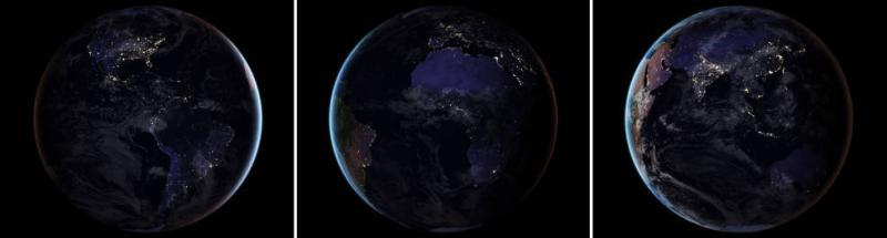 Ziemia nocą widziana z Kosmosu