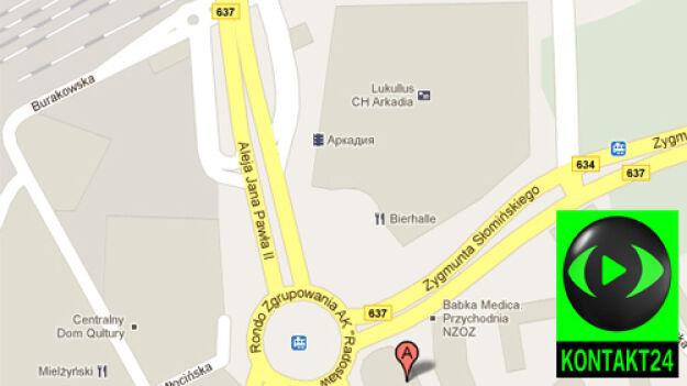 Rosyjskie centrum handlowe na mapie stolicy