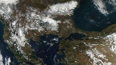 Zimę na Bałkanach widać z kosmosu