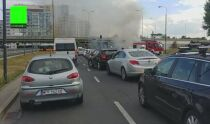 Pożar samochodu przy <br />rondzie Zesłańców Syberyjskich