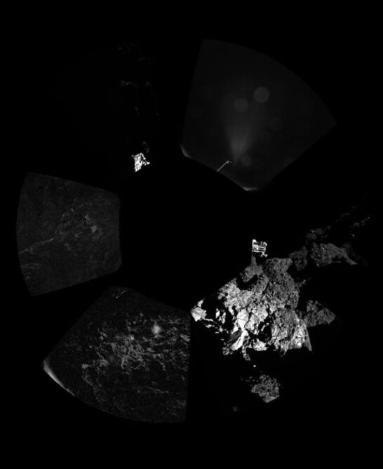 Pierwsza panorama z komety