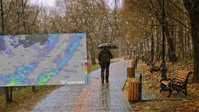 Pogoda na 5 dni: spadnie deszcz ze śniegiem, mocniej powieje