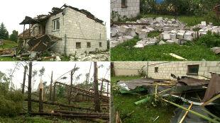 Zerwane dachy, drzewa połamane niczym zapałki. Nad Podlasiem przeszła trąba powietrzna
