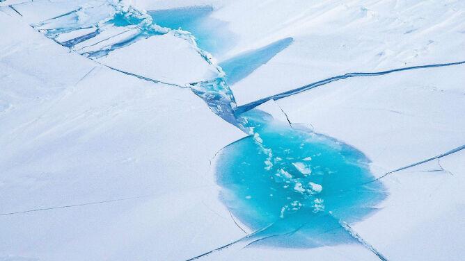 Stopniało trzy i pół Polski. <br />Alarmujący stan arktycznego lodu