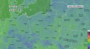 Prognozowana temperatura w ciągu najbliższych dni (Ventusky.com)