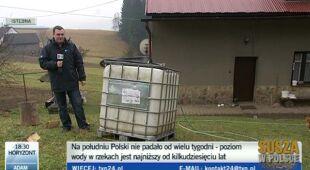 Jerzy Korczyński, o bieżącej sytuacji hydrologicznej na południu (TVN 24)